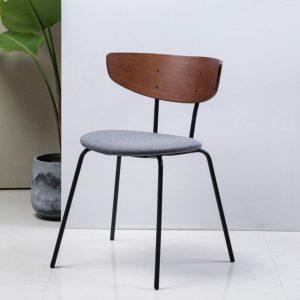 Nordique lumière luxe salle à manger chaise Simple moderne chaises maison Restaurant en bois massif dossier chaise tabouret négociation chaise de bureau