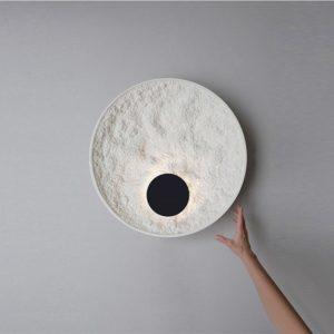 Nordique Loft Art cercle mur Led lampe rétro résine chambre chevet étude barre applique murale éclairage