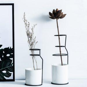 Vase en céramique et poterie pour décoration | Décoration nordique, Design d'art domestique, Vase de Style scandinave minimaliste, accessoires de décoration pour la maison moderne