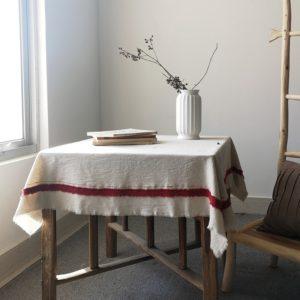 Vintage coton lin nappe coréen japon Anti poussière Table couverture nappe alimentaire photographie fond maison bureau décor