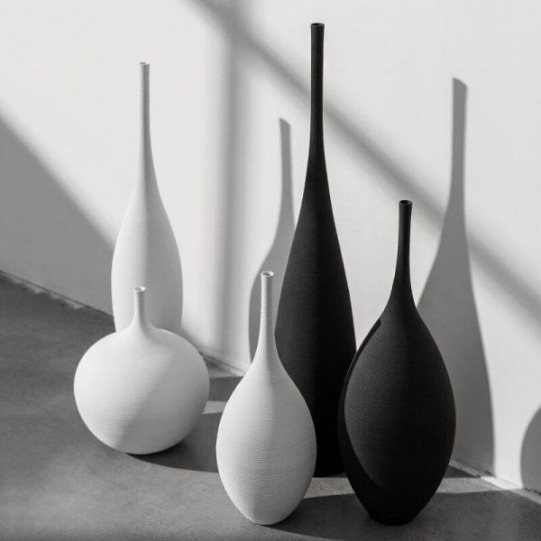 Modern minimalist handmade art Zen vase ceramic ornaments living room model room home decoration CY52614