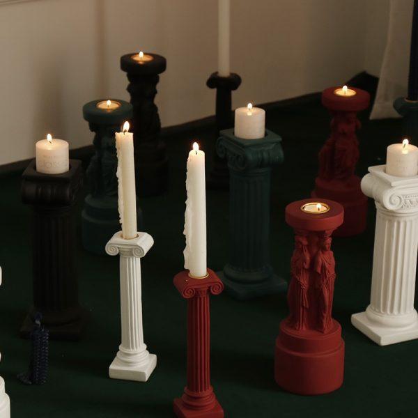 Aromatherapy Candlestick Wedding Centerpiece Candle Holders Sophia Venus Goddess Roman Column Dinner Table Candle Holder Decor