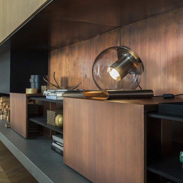 Creative modern minimalist metal glass ball living room study model bedroom decoration study table lamp