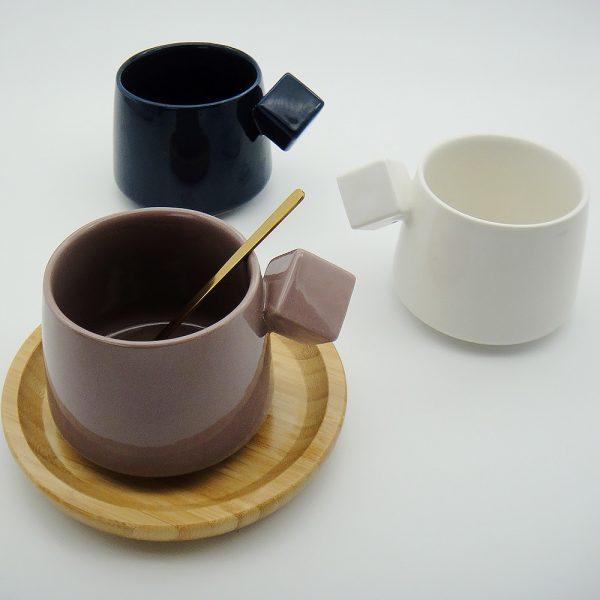 Tasses en céramique diamant Simple élégant | Tasse, tasse de lait, tasses de café, cadeaux d'amis, étudiant tasse de petit déjeuner tasses