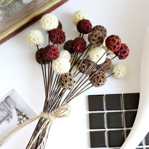 5pcs/lot Dried Flowers Natural Decorative Home Decoration DIY Crafting Accessories Dried Fruit Rustic Decor Wedding Decorations