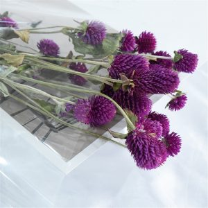 15pcs Purple natural flower bouquets dried gomphrena bouquets FREE SHIPPING