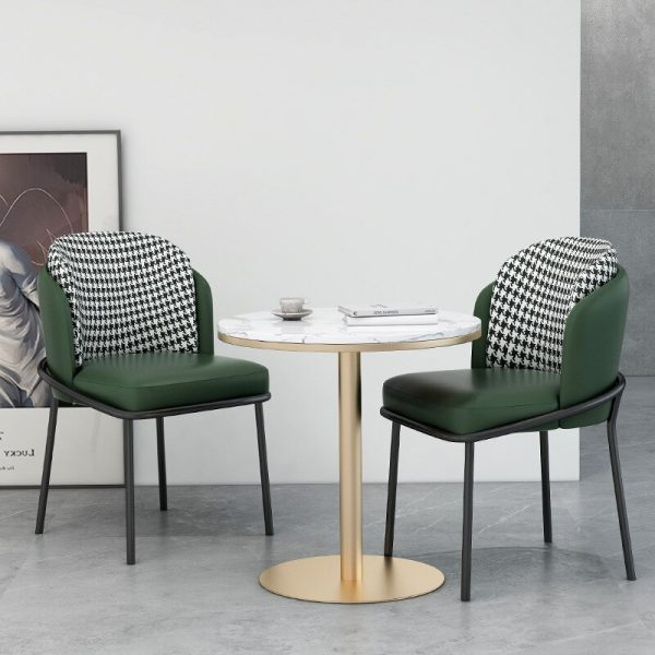 Nordic Luxury Backrest Dining Chairs Home Furniture Modern Minimalist Industrial Style Leather Chair Cafe Single Dining Chairs