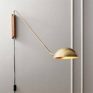 Artpad – applique murale en métal au Design moderne italien, avec bras Long rotatif, pour salon, canapé, Base en bois