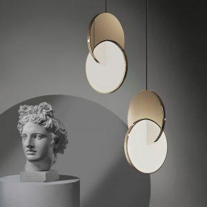 2021 Modern LED Pendant Lamp in Chrome/Gold for Room Art Decor Hanging Lights Free Shipping Winfordo Lighting