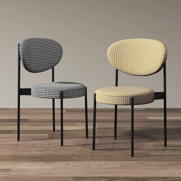 Modern Loft Design Dining Chair, Nordic Design, Lightweight, Luxury, with backrest, Single stool, for Restaurant, Hotel, Lounge furniture