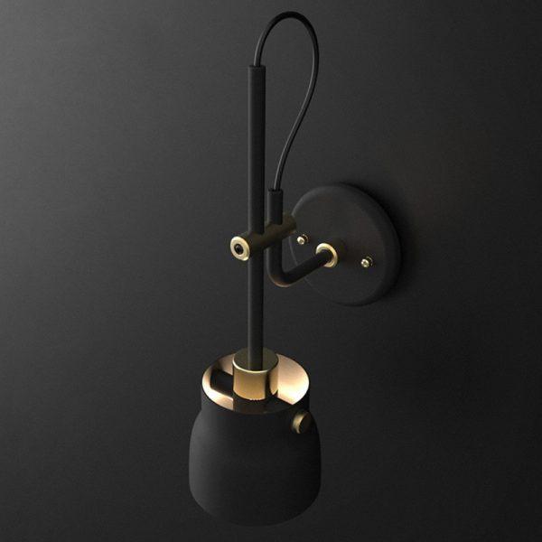 Lampe de chevet de style nordique moderne, éclairage d'intérieur pour chambre à coucher, couloir, salon, escalier E27 mur LED