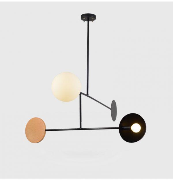 Artpad-plafonnier créatif suspendu au pôle E14, luminaire d'intérieur, luminaire d'intérieur, idéal pour un salon, une salle à manger ou une chambre à coucher