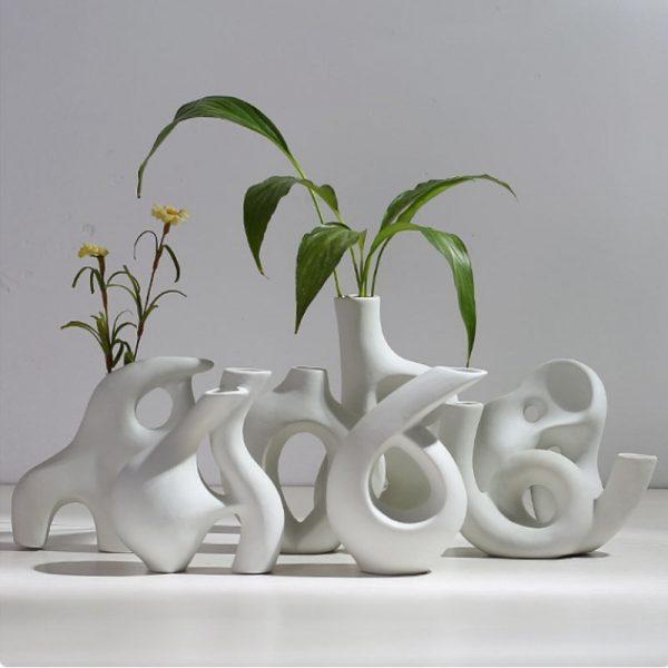 Creative ceramic vase, Nordic style, Simple Art, home decoration, living room, bedroom, bar