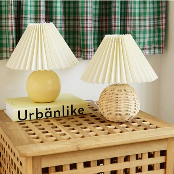 Lampe de Table Vintage en céramique colorée, lampe de chevet romantique pour salon chambre à coucher, décoration nordique pour la maison, bureau