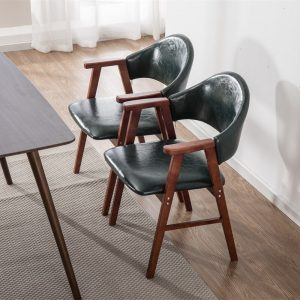 Solid wood dining chair, seat for leisure, hotel, restaurant, modern and minimalist