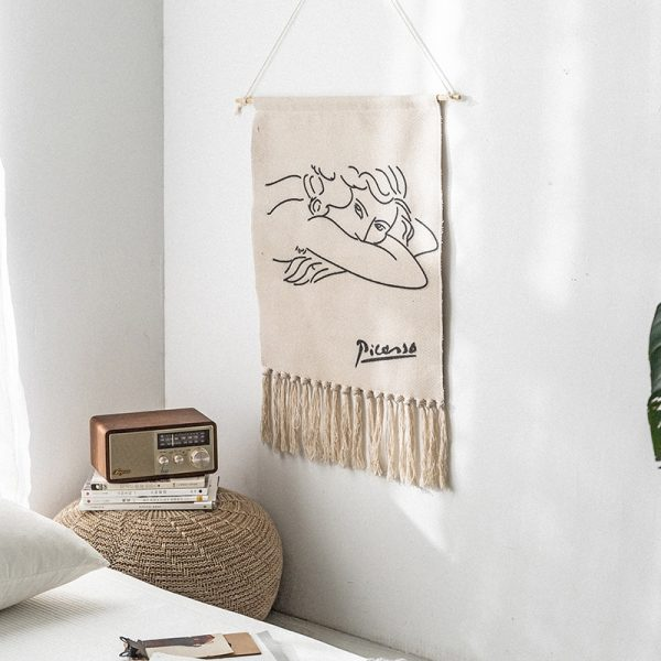 Handmade macramé tapestry, hanging wall tassels, Nordic retro, children's crafts, Indian home decoration for girls and babies room, new collection
